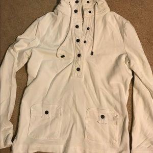 Banana Republic White Sweatshirt